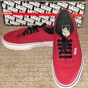 Authentic Red Vans